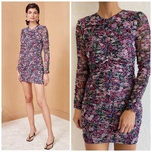 Bec + Bridge Anais Long Sleeve Floral Mesh Dress